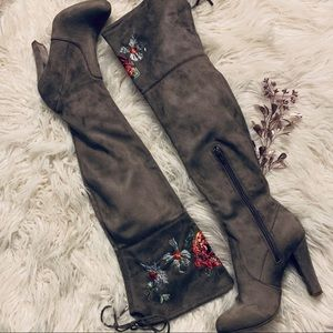 • Floral Over the Knee Boots